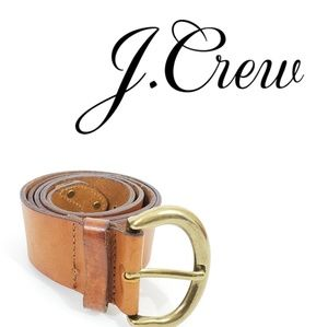 J.Crew Italian Leather and Solid Brass Thick Belt